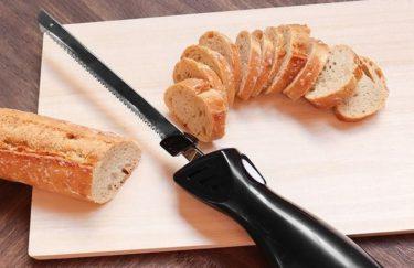 パンやお肉なども薄く綺麗に切る!サンコー エレクトリックナイフ